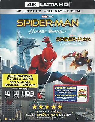 Spiderman Homecoming (4K Ultra Hd/Bluray)(2 Disc Set)(Used)