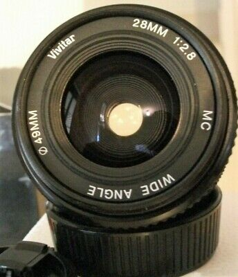 """Vivitar 28mm f/2.8 Wide Angle Lens"" C1979 , Excellent Pre-Owned Condition !"