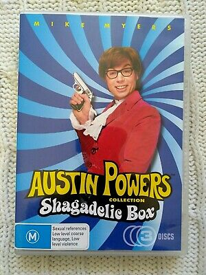 Austin Powers Collection - Shagdelic Box – Dvd, 3-Disc Set- R-4- Like New