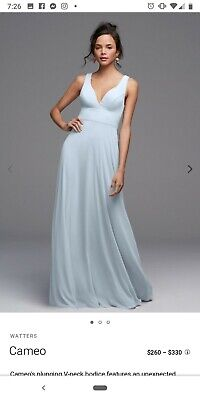 4cc7f6164947 Watters Cameo Bridesmaids Dress size 6 in Harbor Blue