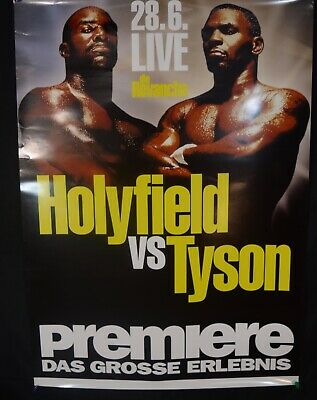 Mike Tyson vs.Evander Holyfield II Poster Pc Ides Beer Mint 1997 Vintage