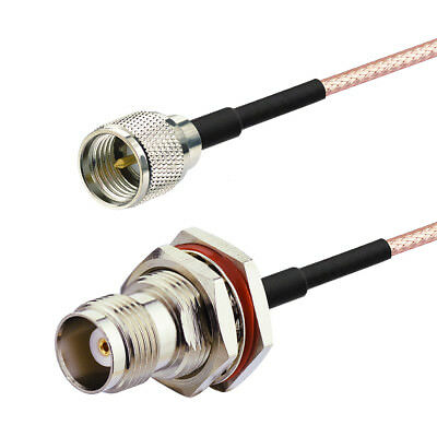 Mini-UHF plug male to TNC Female RF Pigtail coaxial cable RG316 15cm for WIRE