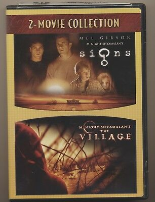 Signs and  The Village (DVD, 2007, 2-Movie Collection)