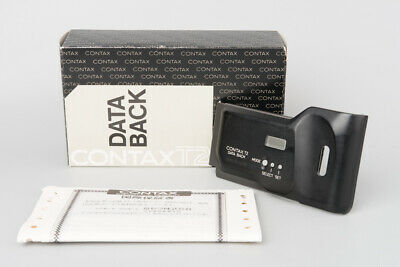 Contax Titan Black Data Back For T2 Film Camera