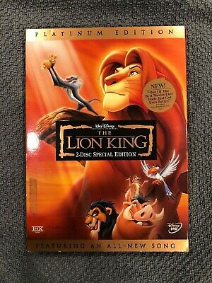 "Walt Disney ""The Lion King""  2 Disc Platinum Special Edition (DVD, 2003)"