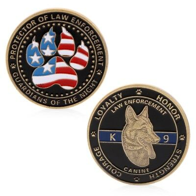 Police Dog Guardians Law Enforcement Protector Challenge Commemorative Coin Gift