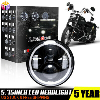 """5-3/4"""" 5.75in LED Projector Headlight Halo for Harley-Davidson Sportster XL 883"""