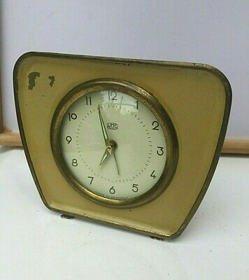 Vintage Mechanical Alarm Clock UMF Ruhla Germany GDR Old Rare Collectible