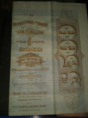 Historical $500.00 railroad savings bond dated 1911. In great condition!