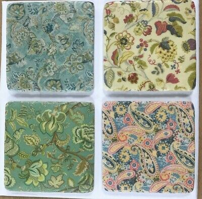 Set of 4 Ceramic Tile coasters French Shabby Chic Antique vintage Style