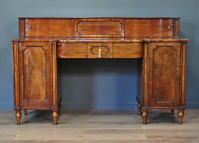 Attractive Very Large Antique Victorian Mahogany Twin Pedestal Sideboard Cabinet