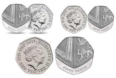 2017, 2018 or 2019 50p Royal Shield Fifty pence Coin - BU Brilliant Uncirculated
