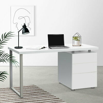 3 Drawer Home Office Study Desk Work Space Craft Sewing Computer PC Table