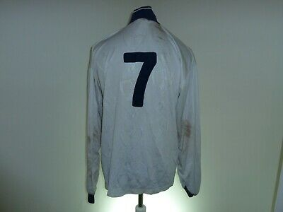 TOTTENHAM HOTSPUR football SHIRT  soccer jersey Player Worn 1995  #7 LARGE