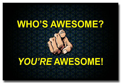 14085 You Are Awesome - Motivational Inspirational Quotes WALL PRINT POSTER DE