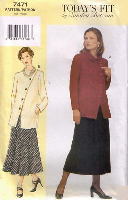 VOGUE SEWING PATTERN 1515 MISSES 10-32 SANDRA BETZINA TOP /& SKIRTS IN PLUS SIZES