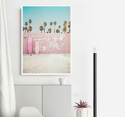 Chanel Surfboard Boho Beach Wall Art Poster Print. Perfect For Home/Office Decor