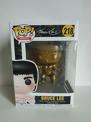 Funko Pop Bruce Lee Gold - Exclusive - Limited - Enter the dragon- no sticker