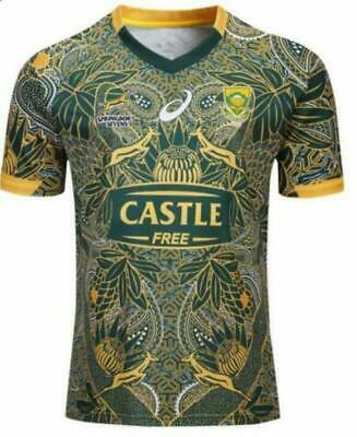 2019 South Africa Nelson Mandela's 100th Anniversary Rugby Jersey Size: S-3XL