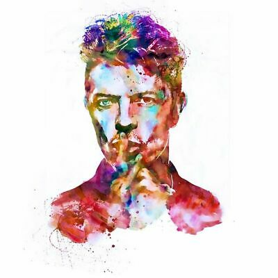 00336 DAVID BOWIE WATERCOLOUR IMAGE High Quality Gloss WALL PRINT POSTER AU