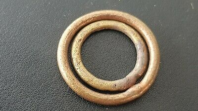 Stunning pair of Celtic BC bronze money rings. Please read description. L124f