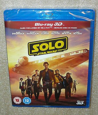 Solo: A Star Wars Story (3D Blu-ray) - 3 Disc Set - Genuine UK