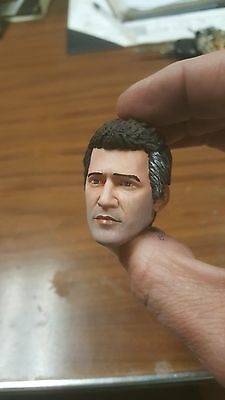 Custom painted mel gibson mad max head for 12 inch figure