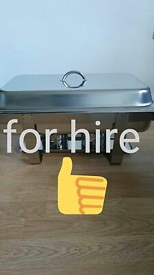 CHAFFING DISHES FOR HIRE WITH FUEL £3.50each per day