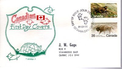 1980 #883-4 Endangered Wildlife FDC with Artopages cachet