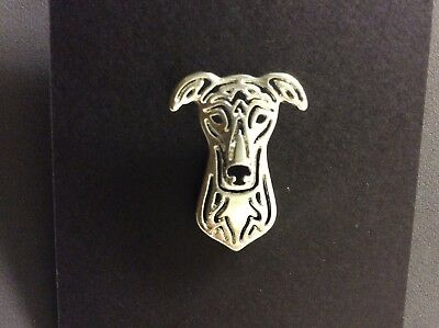 Greyhound Whippet Lurcher Dog Pin Brooch