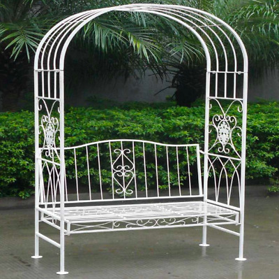 Astonishing Garden Arbour Bench Outdoor Patio Arch Wrought Iron Chic Squirreltailoven Fun Painted Chair Ideas Images Squirreltailovenorg