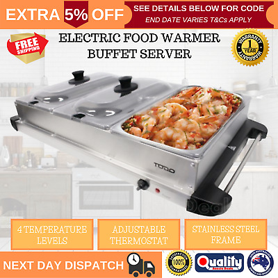 NEW Benchtop Buffet Food Warmer 3 Tray Party Display Server Bain Marie Electric
