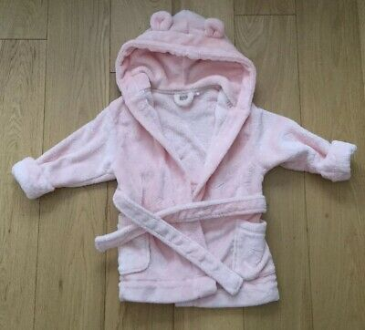 Baby Girl Toddler Next Pink Dressing Gown Size 1.5-2 Years 18-24 Months