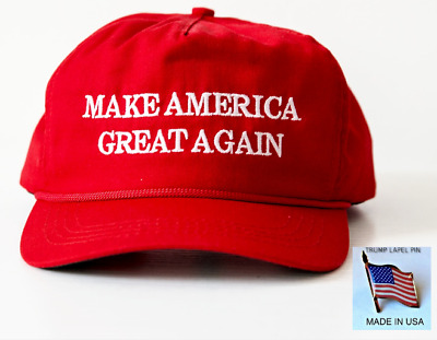 Official MAGA hat + Trump lapel pin set This is Not a copy that has no value