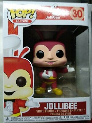 Funko Pop JOLLIBEE Ad Icons #30 Philippines Exclusive NO STICKER Brand New Mint