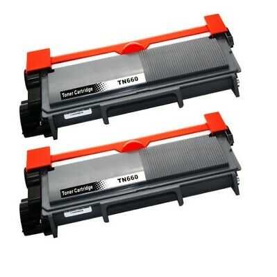 Brother Compatible TN660 TN630 Black Toner Cartridge (2 pack)