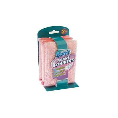 Duzzit Heavy Duty Pearl Scourers Remove Grease & Grime Pink Blue Mrs Hinch Army