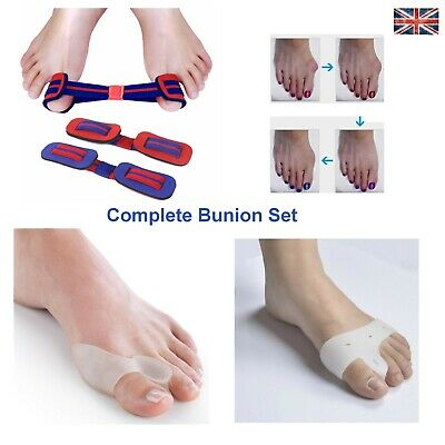 Gel Bunion Straightener Corrector Complete Set Protector Splint Toe Spreader