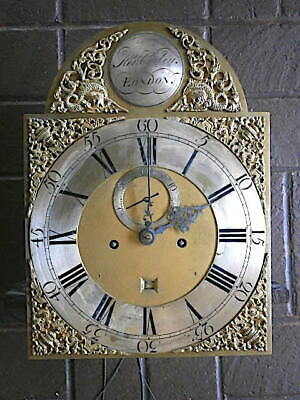 C1750  8 day  LONGCASE GRANDFATHER CLOCK DIAL+movement 12X16+1/2     HEN COOLEY