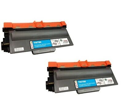 Brother Compatible TN750 TN720 Black Toner Cartridge (2 pack)