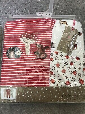 Next Girls Red Woodland Long Sleeved Snuggle Fit Pyjamas,18-24 Months 1.5-2years