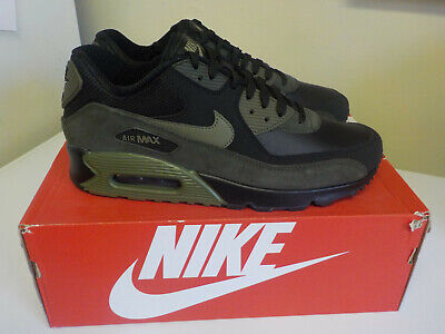 Nike Air Max 90 Black / Olive / Sequoia 302519-014 Men's Leather Shoe Size 9M
