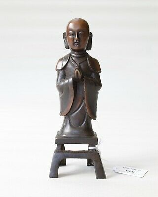 Chinese Antique Bronze Figure of Ananda (Buddha), Ming dynasty (PROVENANCE)