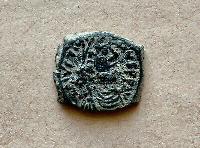 Byzantine bronze pentanummium of emperor Justinian I (527-565). A nice coin!