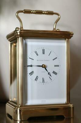 MATTHEW NORMAN SWISS CARRIAGE CLOCK Grande Corniche case STUNNING CONDITION