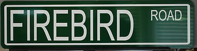 Firebird Road Metal Street Sign Pontiac Rockford Files Woodward Ave Man Cave Bar