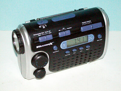 WeatherX RWB 4006 AM/FM/Weather Portable Radio w/3-Way Power