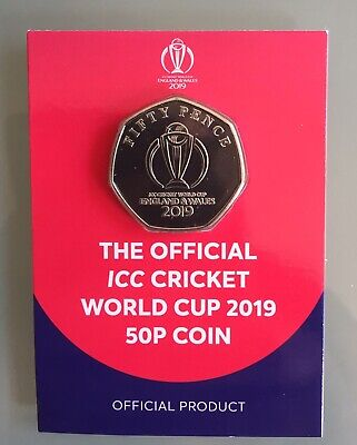 2019 Isle Of Man Cricket World Cup Official 50p BUNC Coin