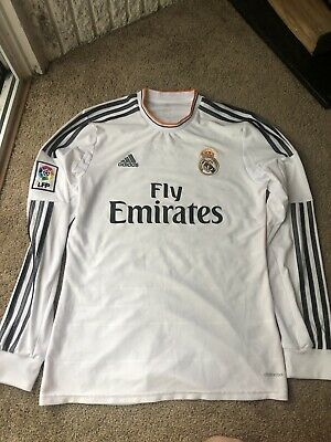the latest 8379a d98e0 ADIDAS GARETH BALE Real Madrid Long Sleeve Home Jersey 2015 ...