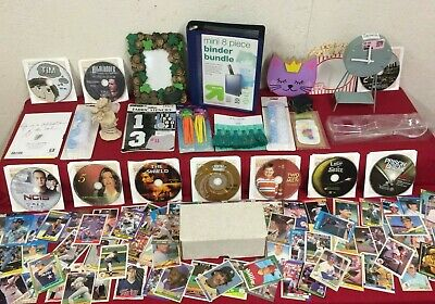 Junk Drawer Lot Collectibles, Baseball, Household, Old Dvd's & Misc